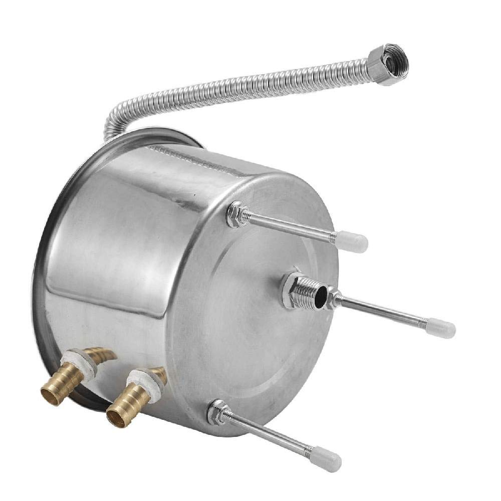 IRONWALLS 5.8 Gallon Water Alcohol Distiller 22 Liters Home Brew Wine Making Machine Kit Silver Stainless Steel Copper Tube