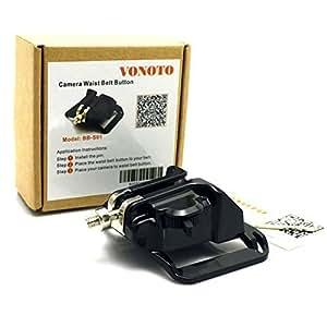 VONOTO DSLR Camera Hard Plastic waist belt buckle button - camera hanger Belt Clip Holster Holder fast loading rig for Canon 5d2 nikon d7000 etc -Black
