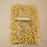 ALEKO 500pc Sheet Metal Grommet And Neck Washer Brass #4 (1/2'')