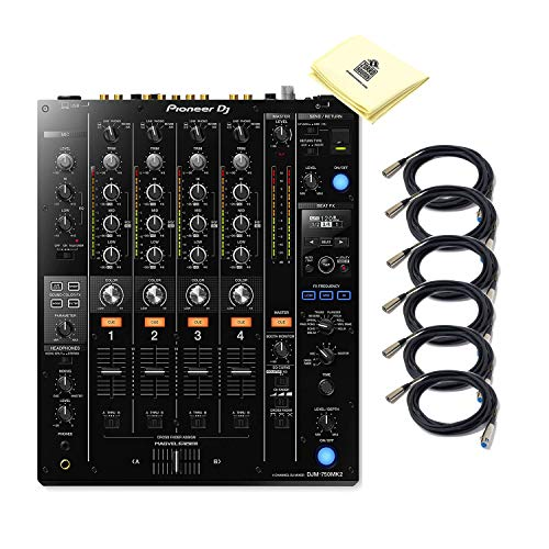 Pioneer DJ DJM-750MK2 4-Channel Digital DJ Mixer with Club DNA | 6 Sound Color & 11 Beat FX | 3-band Switchable Iso EQ…