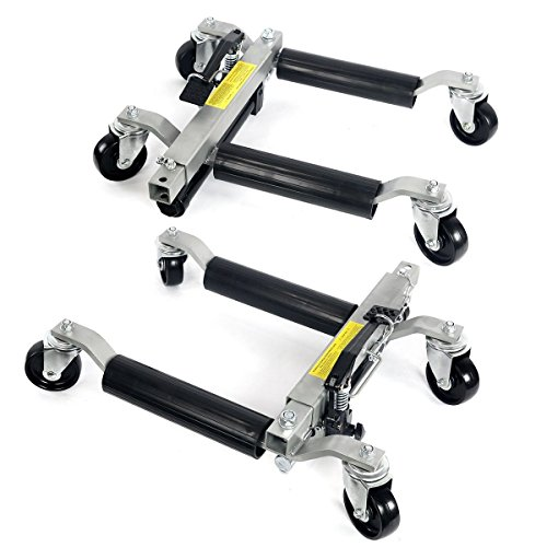 Rison® 2pc 1500lb HYDRAULIC Positioning Car Wheel Dolly Jack Lift hoists Moving Vehicle by Rison®