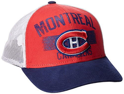 fan products of NHL Montreal Canadiens Men's SP17 City Name Trucker Cap, Red, One Size