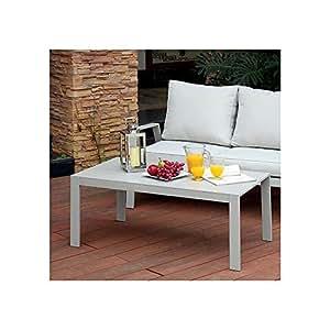 Pensbury Coffee Table in Grey Aluminum - Outdoor Patio