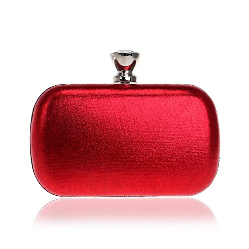 For Clubs Bag Sparkly Evening Shoulder Gift Wedding Prom Diamante Red Leather Ladies Antique Handbag Bag Party Women Glitter Bridal Purse Clutch SqT7B7