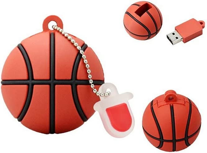 Computers Accessories Creative Basketball Memory Stick USB2.0 4G//8G//16GB//32G//64G//128G Portable Hanging Chain Thumb Drive-Data Storage 10-11 Size : 16G