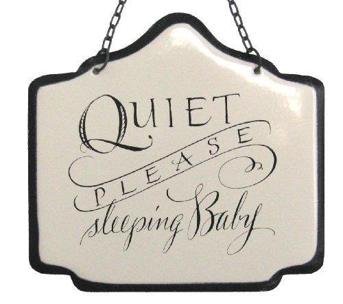 Enamel Sign - America Retold White Enamel Sign, Sleeping Baby, 6