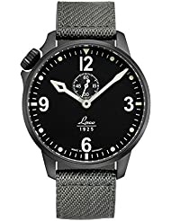 Laco/1925 Mens Cockpitwatch Japanese Automatic Stainless Steel and Nylon Casual Watch, Color:Grey (Model: 861909)