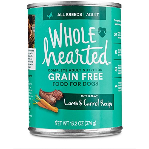 WholeHearted Grain Free Adult Lamb and Carrot Recipe Wet Dog Food, 13.2 oz, Case of 12, 12 X 13.2 OZ