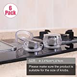 Eudemon Clear 6pack Safety Children Kitchen Stove Gas Knob Covers (6 Pack, Transparent)