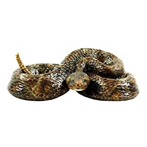 Michael Carr Designs 80058 Western Diamondback Rattlesnake Outdoor Statue, Small