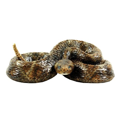 Michael Carr Designs 80058 Western Diamondback Rattlesnake Outdoor Statue, Small]()