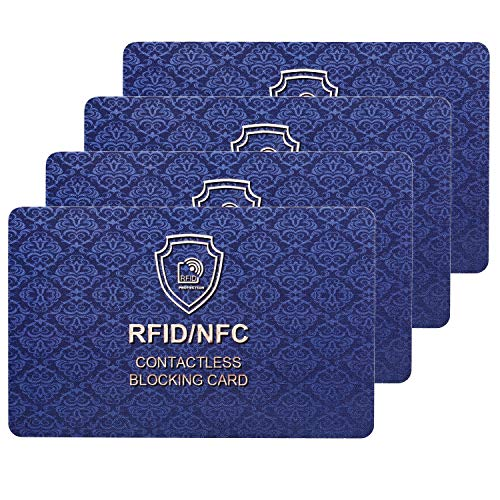 RFID Blocking Card | NFC Contactless Cards Protection | 1 Card Protects Your Entire Wallet | No More Need for Single…