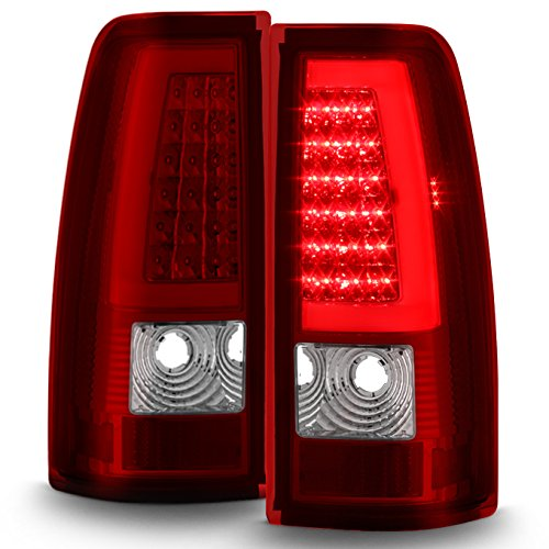 - For GMC Sierra/Chevy Silverado Pick Up Truck Black Bezel Red Lens LED Tube Tail Brake Lights Lamp