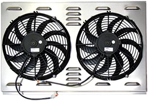 spal fans wiring diagram 1968 amazon com dual 12 inch fan shroud combo  28 w x 17 h automotive  amazon com dual 12 inch fan shroud