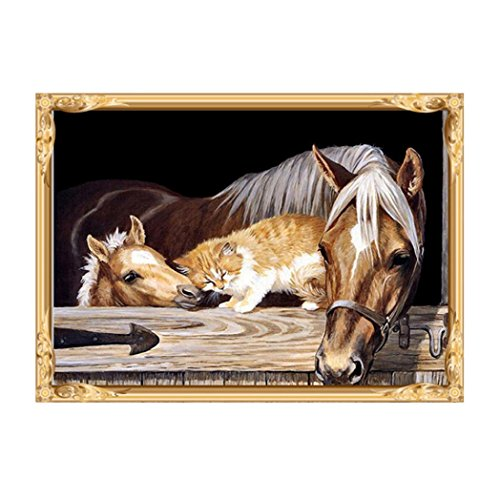 Horse Diamond (Botrong DIY 5D Diamond Painting By Number Kits, Embroidery Cross Stitch Craft Home Decor Art Gift (12X16inch/30X40CM, Horse))