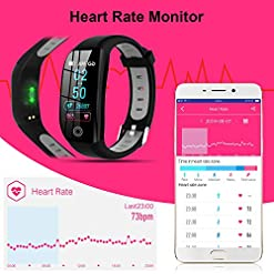 Tipmant Fitness Trackers, IP68 Waterproof Activity Tracker with 1.14 inch HD Screen Heart Rate Monitor Pedometer Step… Sports Technology [tag]
