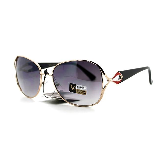 Amazon.com: Lujo de la mujer anteojos de sol anteojos de ...