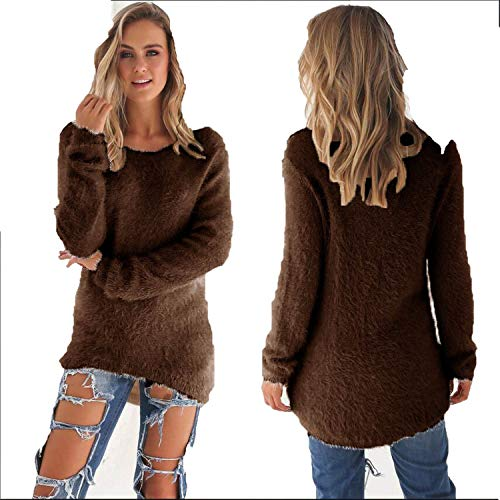 Autumn Winter Women's O-Neck Sweater Female Hedging Loose Pu