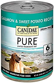 Canidae PURE Grain Free Salmon and Sweet Potato Wet Dog Food, Case of 12