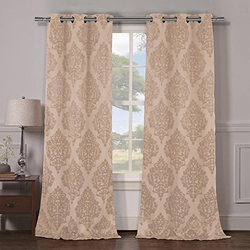 Duck River Textiles Catalina Blackout Grommet Pair Panels, Taupe - Catalina Panel