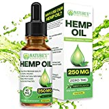 Organic Hemp Oil Extract Drops 250mg - Ultra Premium Pain Relief Anti-Inflammatory, Stress