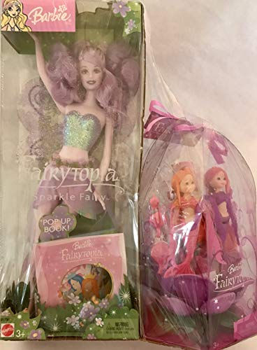 Barbie Fairytopia Sparkle Fairy Doll (Purple) w BONUS Fairytopia Petal Pixies Mermaids Giftset (2004)]()