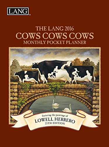 Lang Cows 2016 Monthly Pocket Planner by Lowell Herrero, January 2016 to January 2017, 4.25 x 6.5 Inches (1003168)