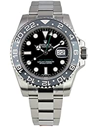 GMT-Master II Stainless Steel Watch Black Dial 116710LN