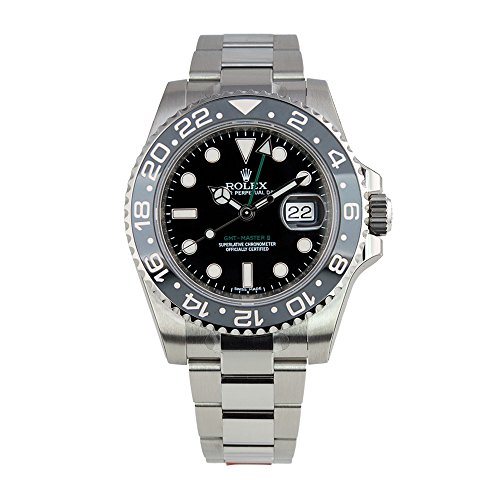 Rolex GMT-Master II Stainless Steel Watch Black Dial 116710LN (Rolex Yacht Master Ii Stainless Steel Price)