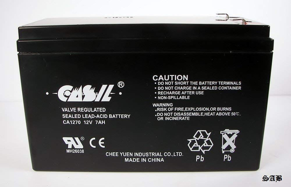 CASIL 12V 7AH CA1270 Sealed Lead Acid (SLA) Battery for GP1272 F2 GP on