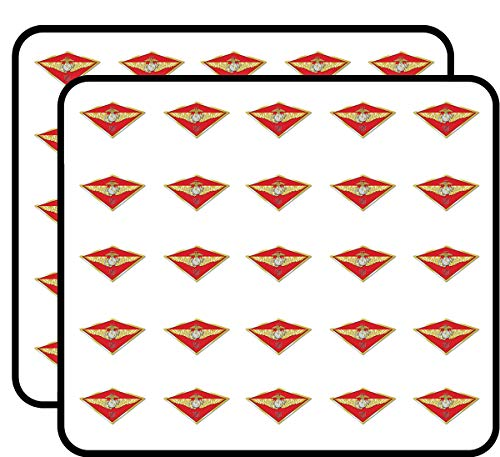 (Maw 3rd Third Marine Aircraft Wing (Diamond Shaped iii USMC) Sticker for Scrapbooking, Calendars, Arts, Kids DIY Crafts, Album, Bullet)