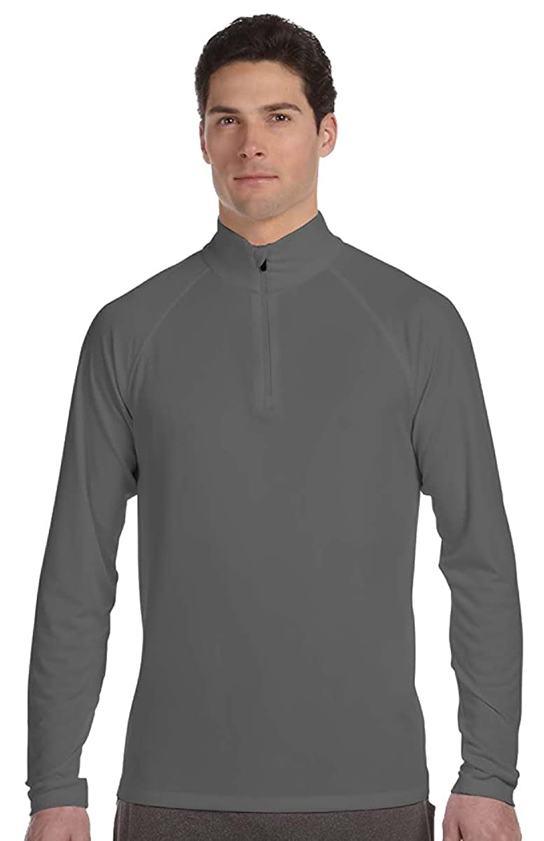 Alo Sport for Team 365 Mens Quarter-Zip Lightweight Pullover SPORT GRAPHITE,S M3006