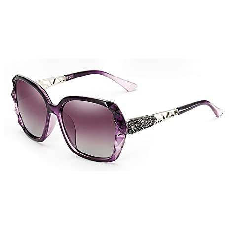 2293eac865e STEVAP Women Sunglasses Crystal Decoration Polarized Square Frame Cat Eyes Sunglasses  UV Protection Classic Cool Lady s