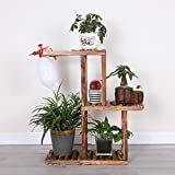 JHZWHJ Wooden Flower Rack Indoor Plant Stand Wooden Plant Flower Display Stand Wood Pot Shelf Storage Rack Outdoor (Color : A)