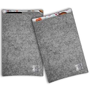 SIMON PIKE Cáscara Funda de móvil Boston 10 gris Xiaomi MI3 M3 Fieltro de lana