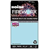 Boise MP2204-BE FIREWORX Colored Paper, 20-Pound, 8-1/2 x 14, Bottle Rocket Blue, 500 Sheets/Ream
