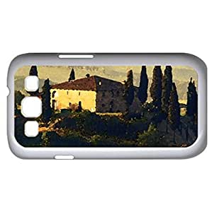 country villas in a tuscany landscape (Houses Series) Watercolor style - Case Cover For Samsung Galaxy S3 i9300 (White)