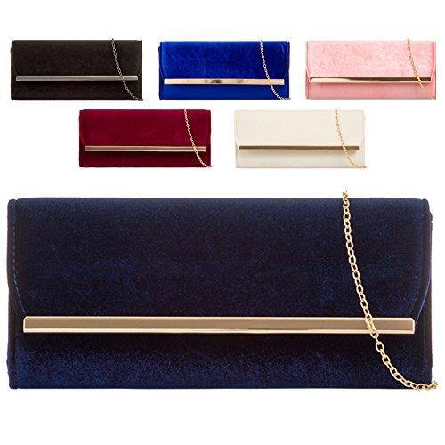 Bag Bag Clutch Envelope Evening Pink KH717 Women's Velvet Designer Ladies Handbag Purse wqBZ1In