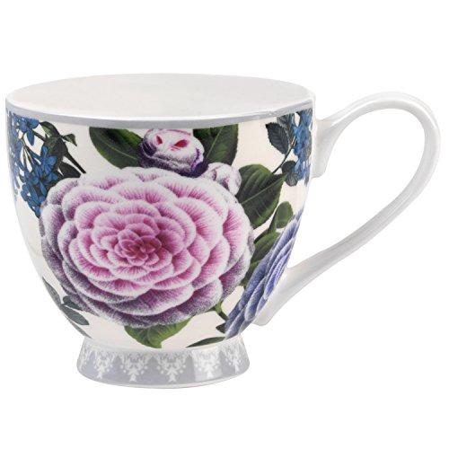 Portobello Sandringham Jayna Floral Bone China Mugs Tea Cups, Set of 2