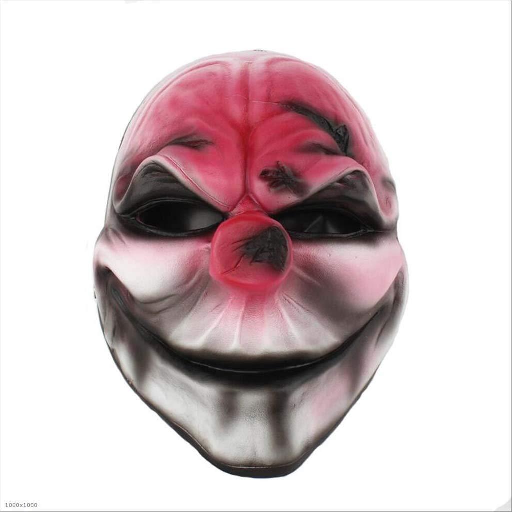 XRFHZT Halloween Masquerade Party Personaje Dress Up Máscara De Resina Cabeza Roja