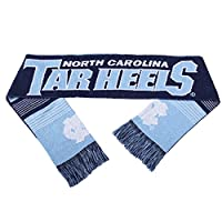 NCAA North Carolina Tar Heels Reversible Split Logo Scarf, One Size, Team Color
