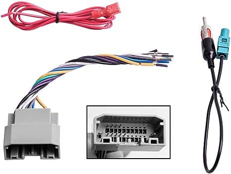 2013 dodge avenger radio wiring harness amazon com car stereo radio wiring harness antenna adapter for  car stereo radio wiring harness