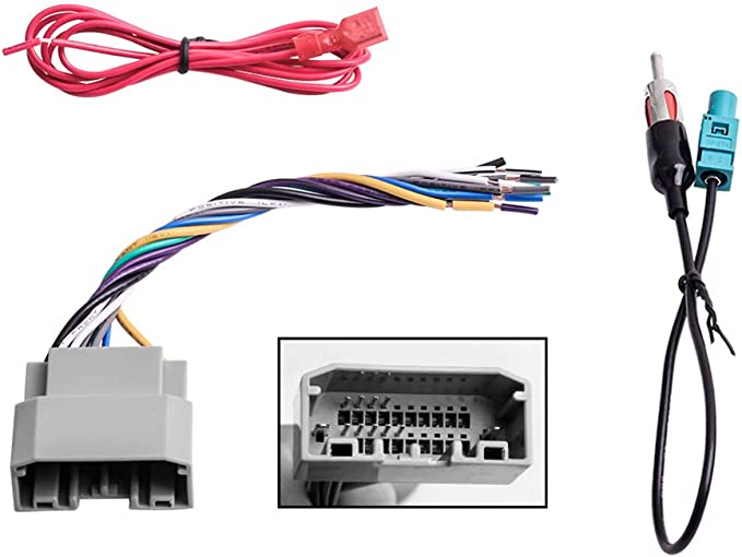 amazon.com: car stereo radio wiring harness antenna adapter for some jeep  dodge chrysler: car electronics  amazon.com