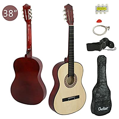 "Smartxchoices 38"" 6-String Folk Acoustic Guitar for Beginners Music Lovers Kids Gift 4 Colors"