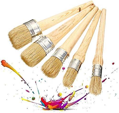 絵筆 プロフェッショナルチョークはワックスブラシは天然毛クリーニングブラシアーティストペイントセットを絵画ペイント 掃除が簡単で実用的 (色 : Natural, Size : 40mm)
