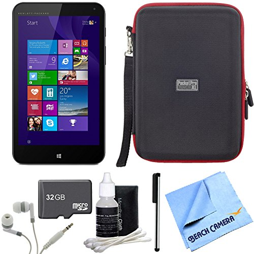 Stream 7 32GB Windows 8.1 Tablet 32GB bundle includes HP Stream 7 Tablet, 32GB memory card, headphones, stylus pen with clip, cleaning kit, hardshell case and micro fiber cloth (7 Gb Tablet 32 Hp Stream)