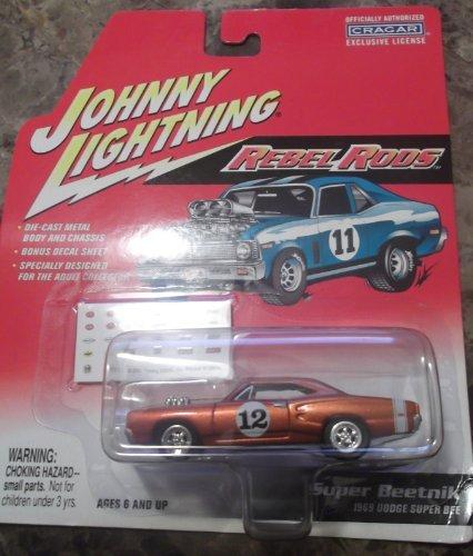 Johnny Lightning 1:64 Super Beetnik 1969 Dodge Super Bee Rebel Rods by Johnny Lightning