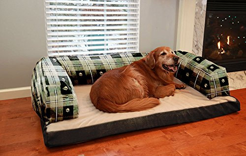 NEW! Beasley's Couch Orthopedic Dog Bed - XX Large 40'' X 60'' - Teal Paw by Pets Alley