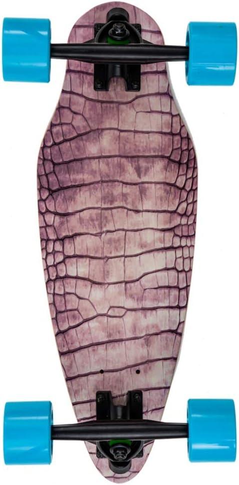7 Zoll Die Kurven Stars mit Breiten Longboard Achsen leicht Supercool Klein 11 Farben w/ählbar Reptile BigG Mini Cruiser Skateboard f/ür Kinder und Erwachsene
