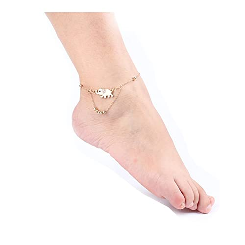 e4feca791 Spiritlele Layered Elephant Beads Anklet Crystal Sandal Beach Foot Chain for  Women (Elephant)  Amazon.ca  Jewelry